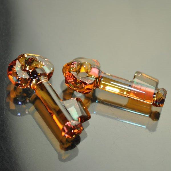 34769181003001 Swarovski Pendant - Designer Series - 30 mm Key to the Forest (Signed) - Crystal Copper (1)