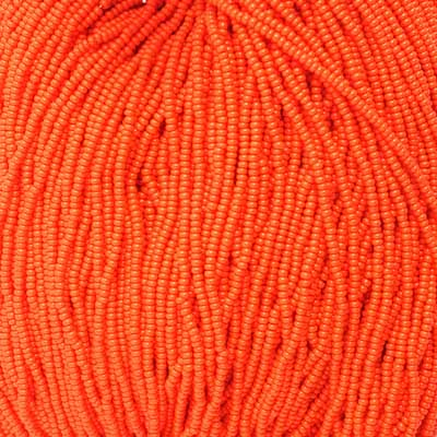66434919 Czech Seedbeads - 11/0 Seedbead - Opaque Orange (tube)