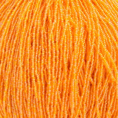 66434949 Czech Seedbeads - 11/0 Seedbead - Transparent Light Orange AB (hank)