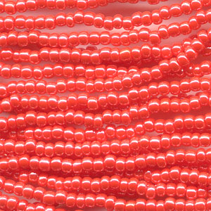 66435046 Czech Seedbeads - 11/0 Seedbead - Opaque Dark Orange Lustre (hank)
