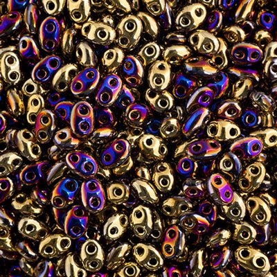 67902020 Czech Seedbeads - 2 Hole Twins - California Violet