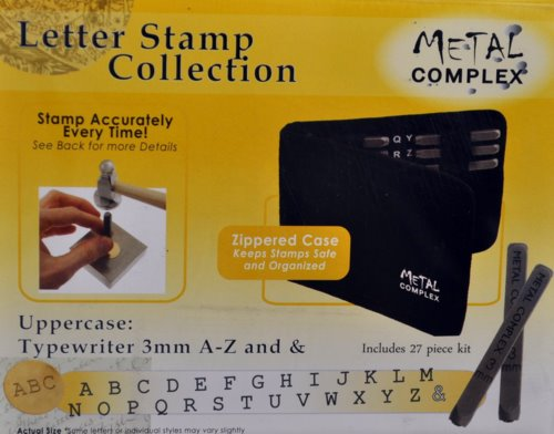74550011-00 Tools - 3 mm Letter Stamp/Punch Collection - Typewriter Uppercase (Set)