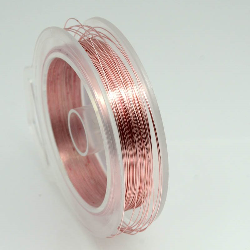 74701014-35 Artistic Wire - 28 gauge Round Wire - Rose Gold (Spool)