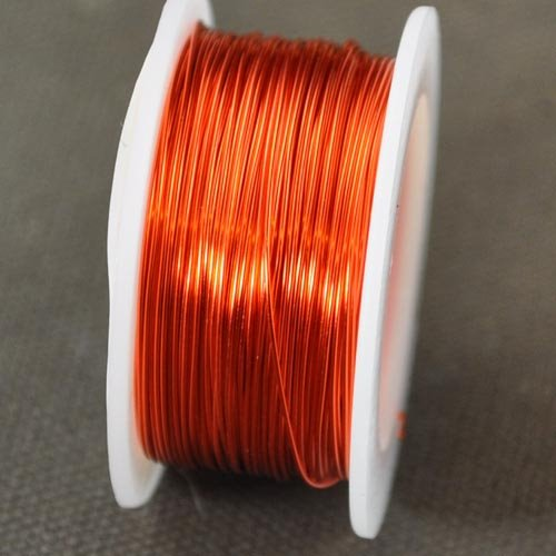 74702004-06 Artistic Wire - 26 gauge Round Wire - Silver Plated - Tangerine (Spool)