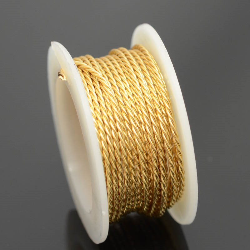 74702300-11 Artistic Wire - 18 gauge Twisted Wire - Non Tarnish Brass (2 yard spool)