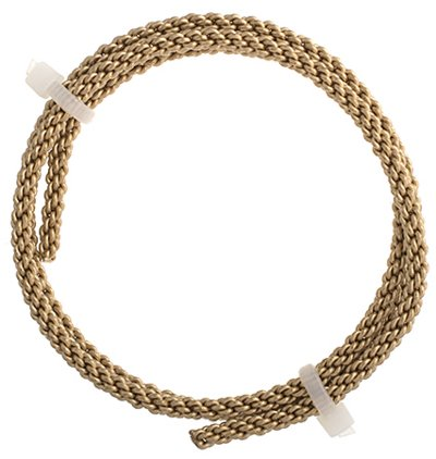 74702999-00 Artistic Wire - 8 gauge Braided Wire - Non-Tarnish Brass (Pack)