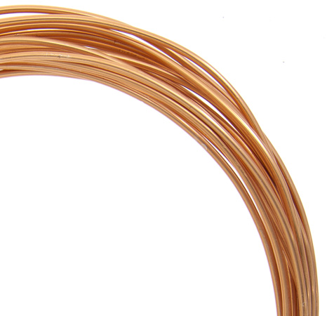 74720001-03 Aluminum Wire - 12 gauge Round Wire - Light Copper (9.2 metres)
