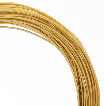 74720002-01 Aluminum Wire - 18ga Round Wire - Gold Color (30 feet)