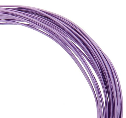 74720002-11 Aluminum Wire - 18ga Round Wire - Purple (30 feet)