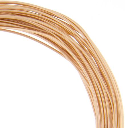 74720002-16 Aluminum Wire - 18ga Round Wire - Pale Copper Color (30 feet)