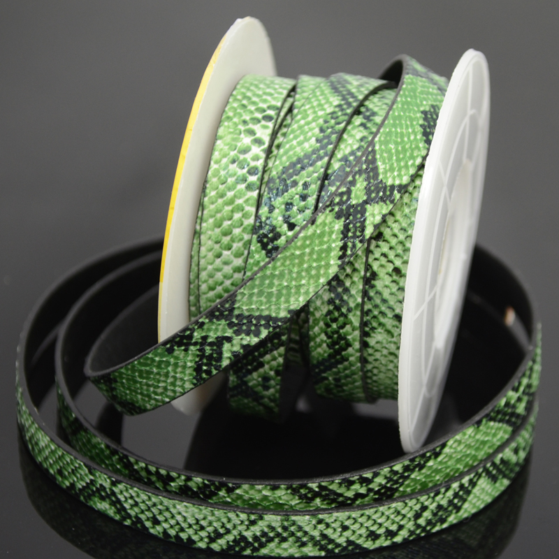 75103003-01 Leather Strip - 10 mm Faux Snake - Jungle Jim (Inch)