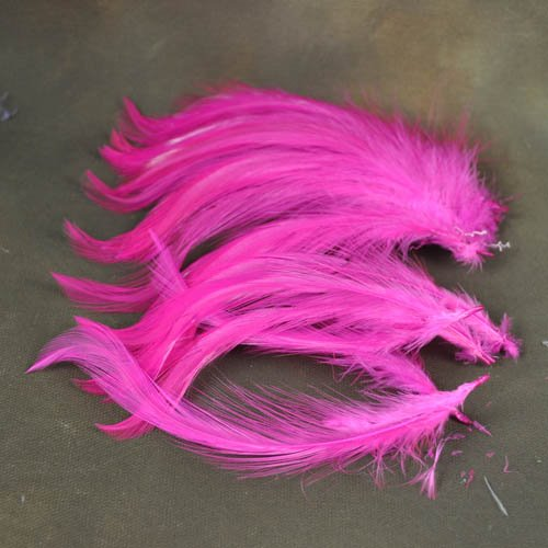 78024030-07 Feathers -  Coque Hackles - Hot Magenta Pink (Pack)