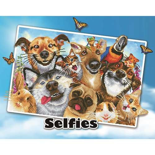 89300010-02 Diamond Dotz -  Wall Art Advanced Kit - Selfies Love You