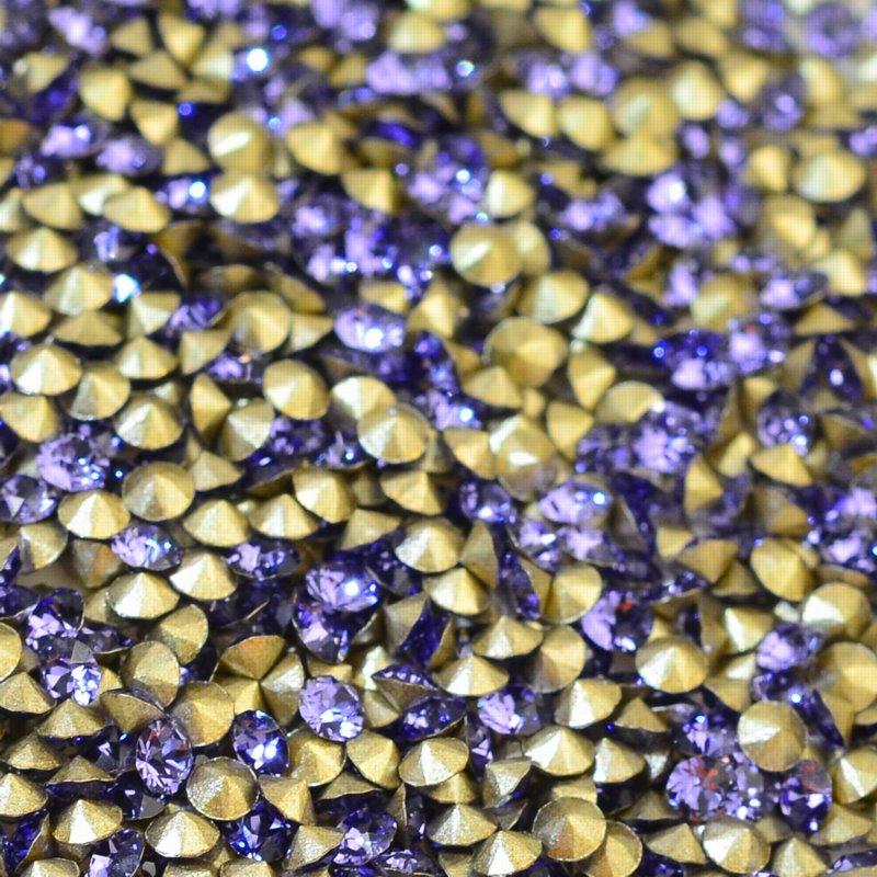 9671088pp170539 Swarovski - Rhinestones - PP 17 Xirius Chaton (Article 1088) (Foiled) - Tanzanite (1 gram)