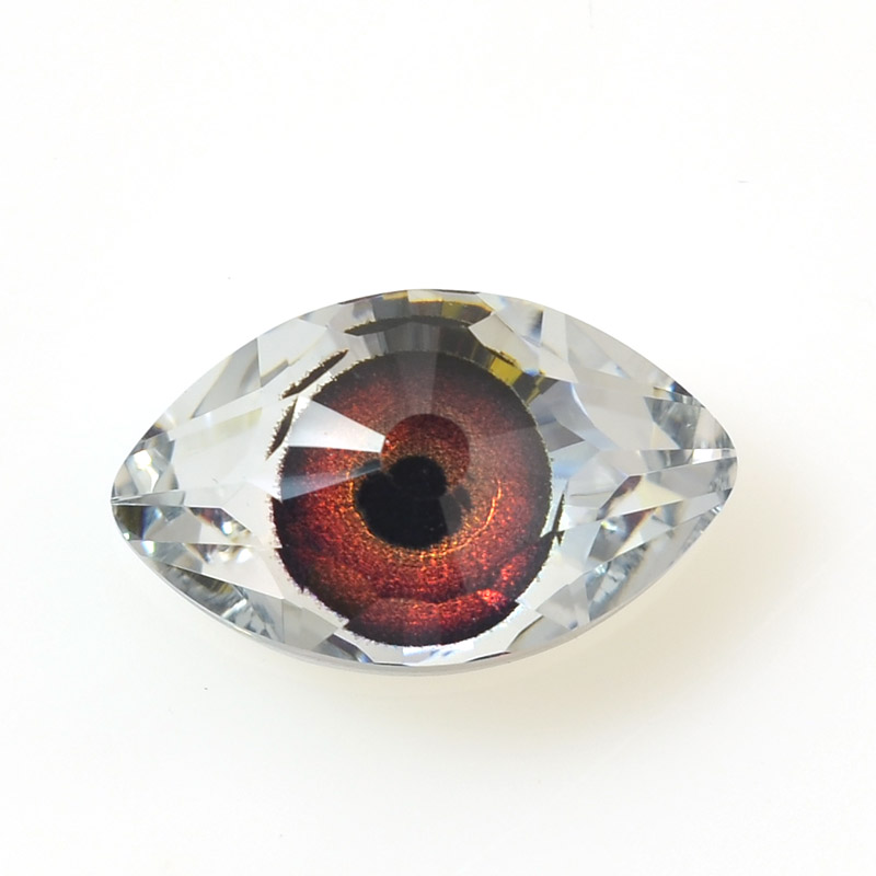 968111-003 Swarovski Crystal Pendant - Evil Eye (Art 4775) - Crystal Red-Brown