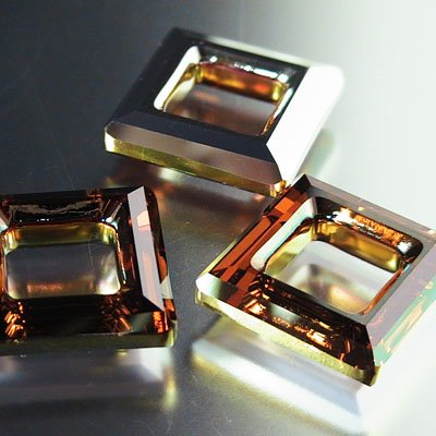 96844395005001 Crystallized - Swarovski Elements Fancy Stone - 20 mm Square Donut (4439) - Crystal Copper (1)