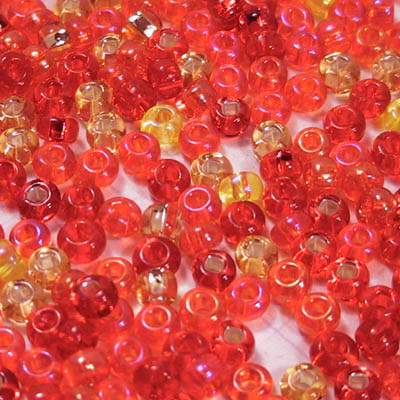cfx6ongrenadinepond ColourFX - 6/0 Czech Seedbeads - On Grenadine Pond (20 grams)