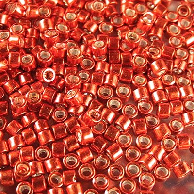 db0421 Delicas - 11/0 Japanese Cylinders - Galvanized Tangerine (7.5 g)