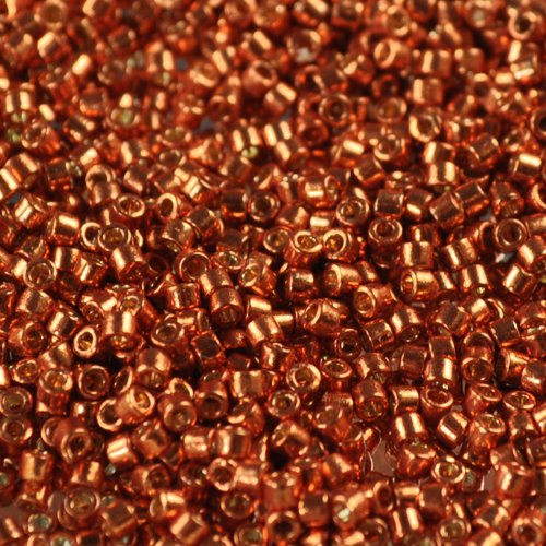 db1837 Delicas - 11/0 Japanese Cylinders - Galvanized Copper Orange [Duracoat] (5 grams)