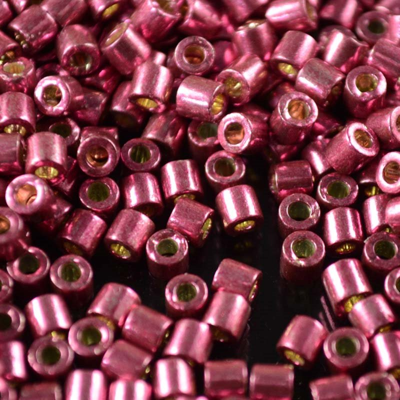 dbl1849 Delicas - 8/0 Japanese Cylinders - Duracoat Galvanized Magenta (5 grams)