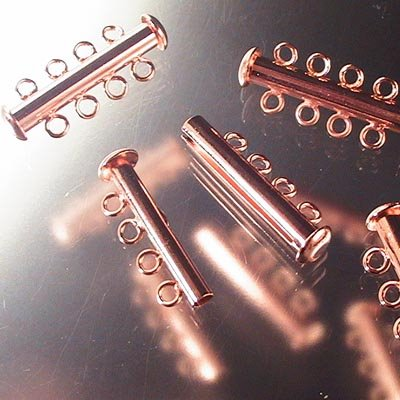 hclsp21cp Findings - Clasps - 4 Strand Tube Clasp - Bright Copper (1)