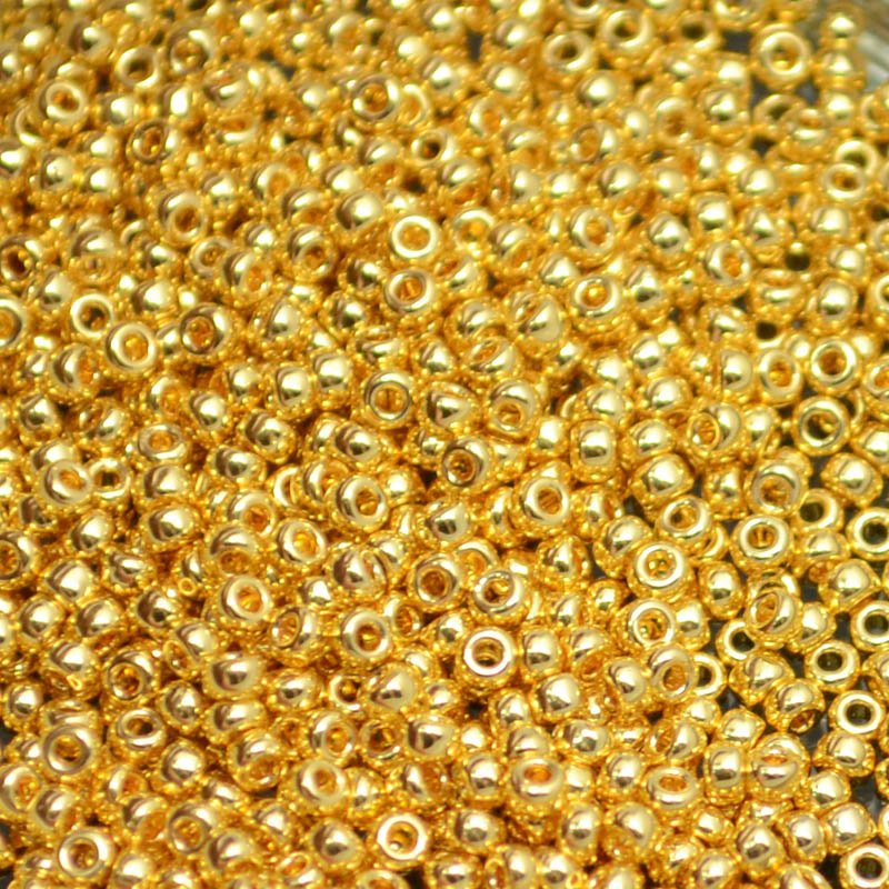 mb11-0191 Japanese Seedbeads - 11/0 Miyuki Seedbeads - 24kt Gold Plated (2.5 grams)