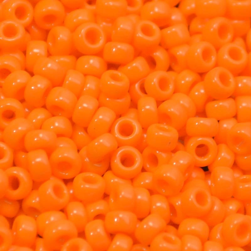 mb11-0405 Japanese Seedbeads - 11/0 Miyuki Seedbeads - Opaque Mandarin Orange