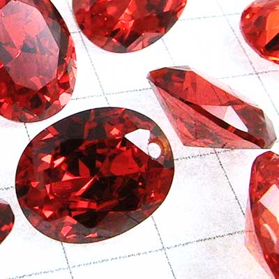 "rt007-05 Cubic Zirconia Drilled Gems - 10 mm Faceted Oval Cut - Padparadscha (1) - <font color=""#FF0000"">Discontinued</font> - 70% off!"