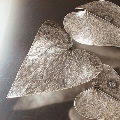 "s16688 Plated Leaves - Large Hart Ivy Leaf - Antiqued Sterling <font color=""#FF0000"">Managers LAST CALL </font> 80% off!"