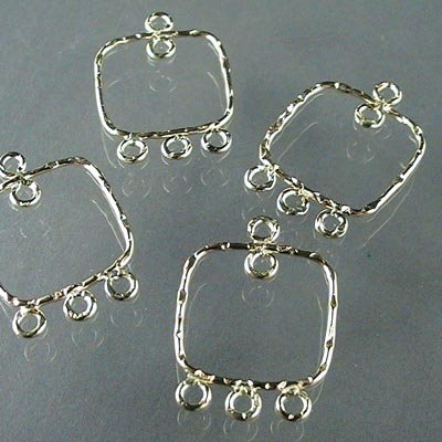 """s16708 Earring Chandeliers - 4 Loop Square - Gold-filled (pair) <font color=""""#FF0000"""">Managers LAST CALL </font> 80% off!"""