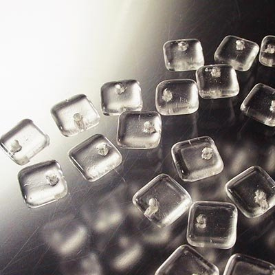 """s16782 Glass - 6 mm Squarelets - Crystal (strand 25) <font color=""""#FF0000"""">Managers LAST CALL </font> 80% off!"""