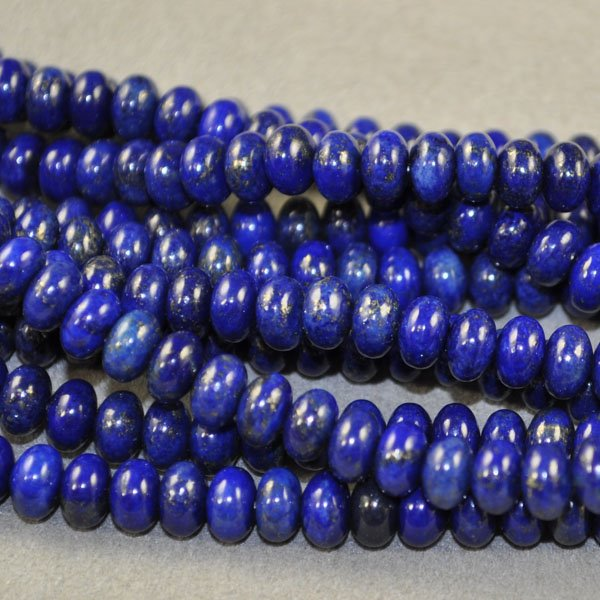 s18988 Stone Beads - 6 mm Rondelle - Lapis Lazuli (strand)