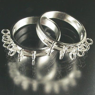 s19264 Sterling Findings - Size 9 Sterling Ring - Sized - w Inline Loops - Bright Sterling (1)