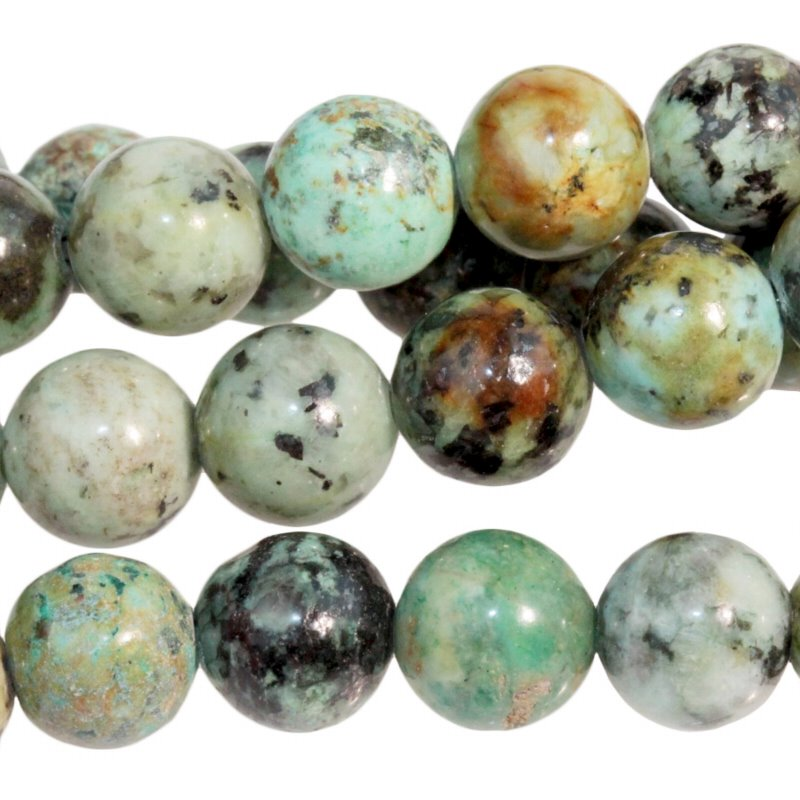 s22009 Stone Beads - 8 mm Round - African Turquoise (strand)