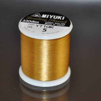 s23918 Thread - Size B Miyuki Nylon Thread - Harvest Gold (Spool)