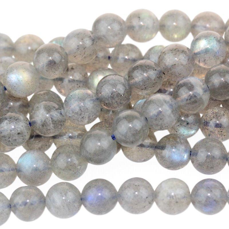 s26805 Stone Beads - 6 mm Round - Labradorite (strand)