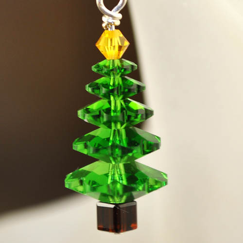 s26985 Holiday Earring Kits -  O Crystal Tree - Fern Pine