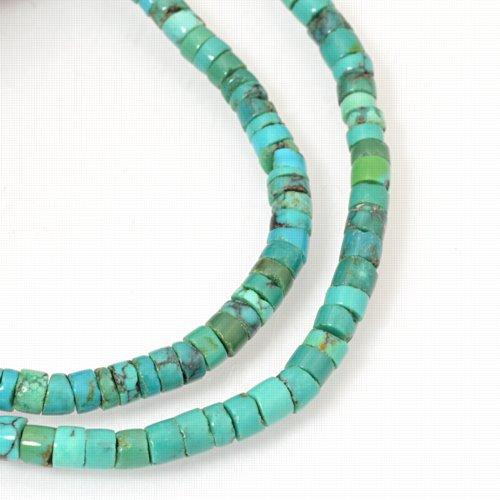 s27297 Stone Beads - 4mm Heishi - Turquoise (strand)