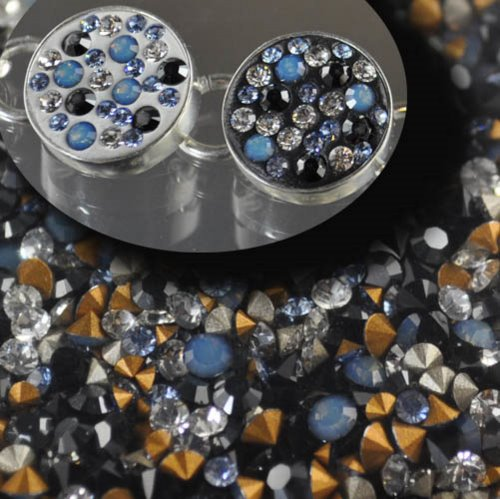 s28331 CrystalFX -  Swarovski Chaton Mix - Night Fog (1 gram)