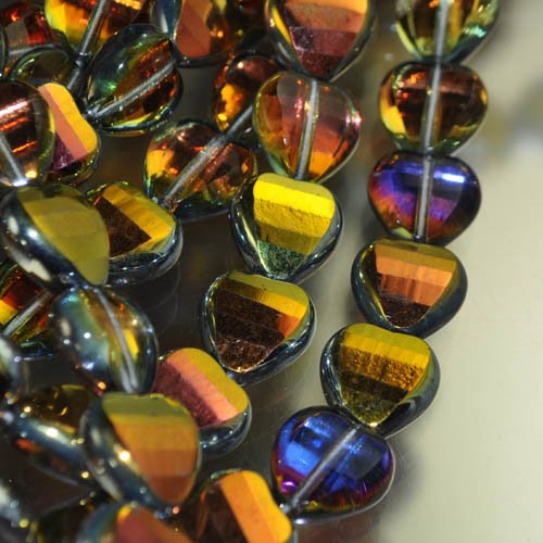 """s31627 Firepolish - 12 mm Faceted Fancy Heart - Crystal Marea <font color=""""#FF0000"""">Managers LAST CALL </font> 80% off!"""