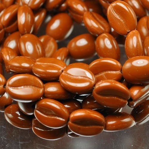 "s32213 Glass - 8 x 11 mm Coffee Bean - Cinnamon (Strand 15) <font color=""#FF0000"">Managers LAST CALL </font> 80% off!"