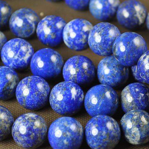 s32308 Stone Beads - 16 mm Round - Lapis Lazuli