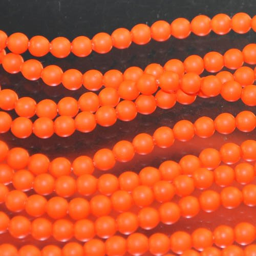 "s33099 Swarovski Neon Pearl - 3 mm Round Pearl (5810) - Neon Orange Pearl (100) - <font color=""#FF0000"">Discontinued</font> - 60% off!"