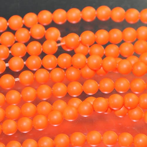 "s33100 Swarovski Neon Pearl - 4 mm Round Pearl (5810) - Neon Orange Pearl (strand 25) - <font color=""#FF0000"">Discontinued</font> - 60% off!"