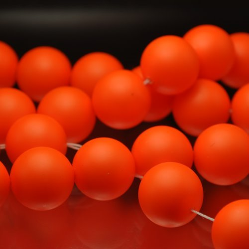 "s33101 Swarovski Pearl - 14 mm Round Pearl (5811) - Neon Orange Pearl (5) - <font color=""#FF0000"">Discontinued</font> - 60% off!"