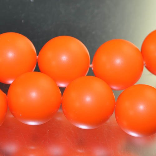 "s33102 Swarovski Pearl - 16 mm Round Pearl (5811) - Neon Orange Pearl (1) - <font color=""#FF0000"">Discontinued</font> - 60% off!"