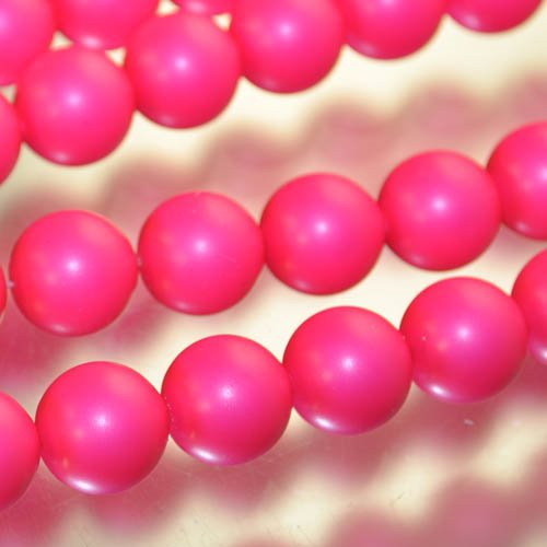"s33106 Swarovski Neon Pearl - 12 mm Round Pearl (5810) - Neon Pink Pearl (10) - <font color=""#FF0000"">Discontinued</font> - 60% off!"