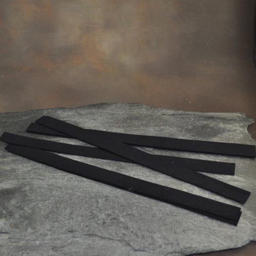 s33215 Accessories - Narrow Ultra Suede Cuff Strip - Jet Black (1)