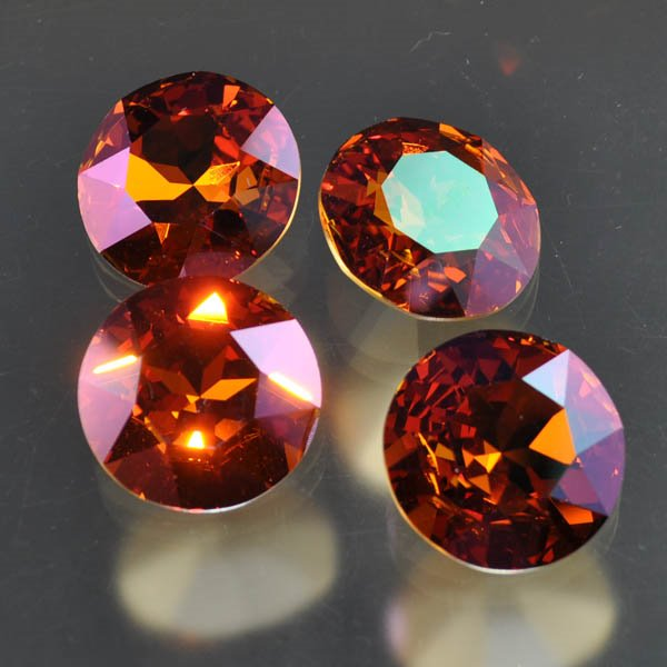 s33480 Swarovski Fancy Rhinestones - 27 mm Faceted Round (1201) - Crystal Summer Blush (1)
