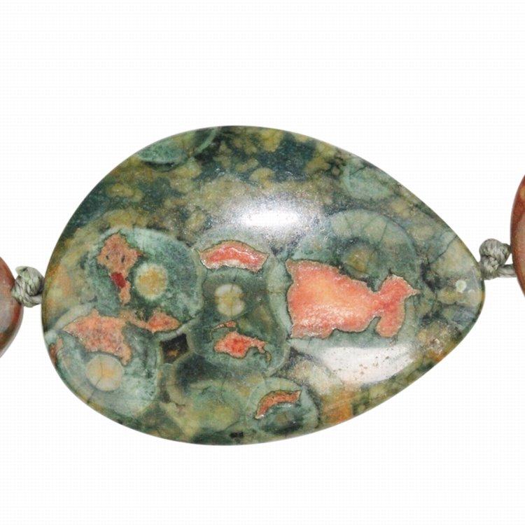 s33540 Stone Beads - 30 x 40 mm Freeform - Rhyolite